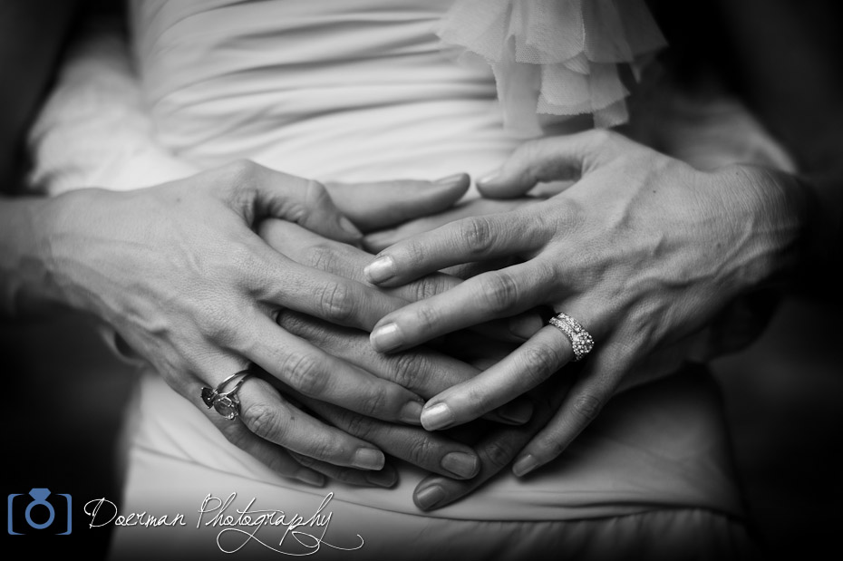 wedding interlocked hands