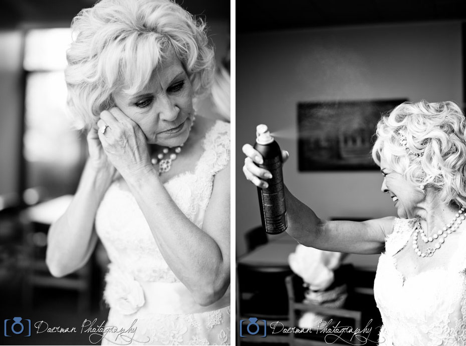 Bride Getting Ready Hairspray