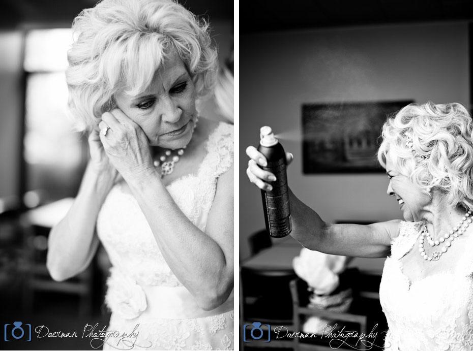Bride Getting Ready Hairspray