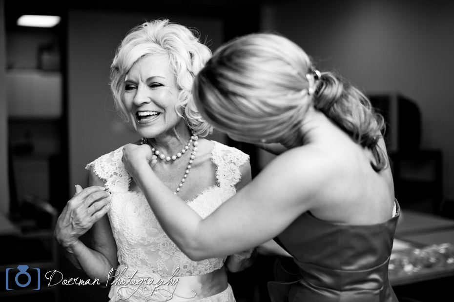 Bride with Bridesmaid Nashville Wedding