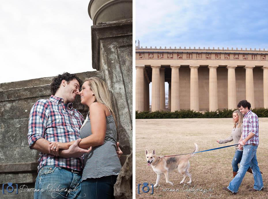 Centennial Park Nashville Engagement