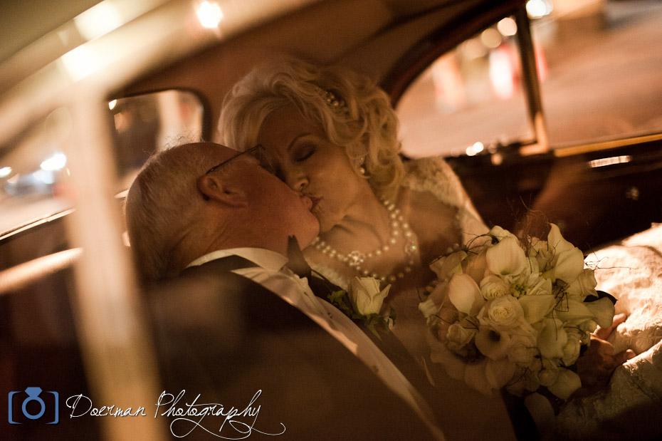 Hermitage Hotel Wedding Kiss