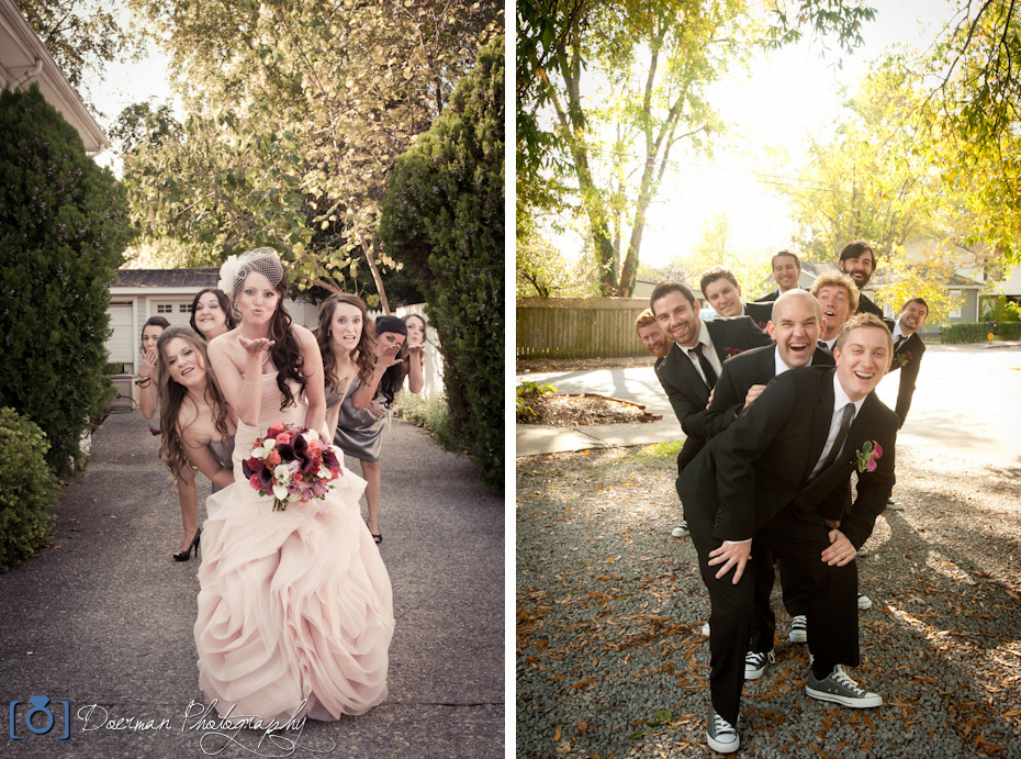 Wedding Party Photography: Wendy And Jeremy's Wedding At Carriage Lane Inn