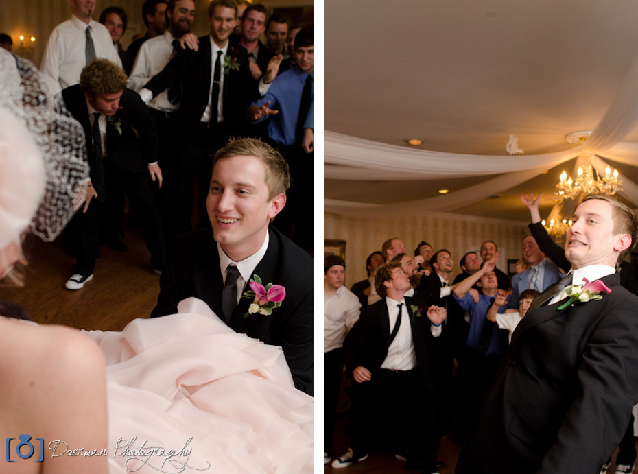 Garter Toss Carriage Lane Inn Wedding