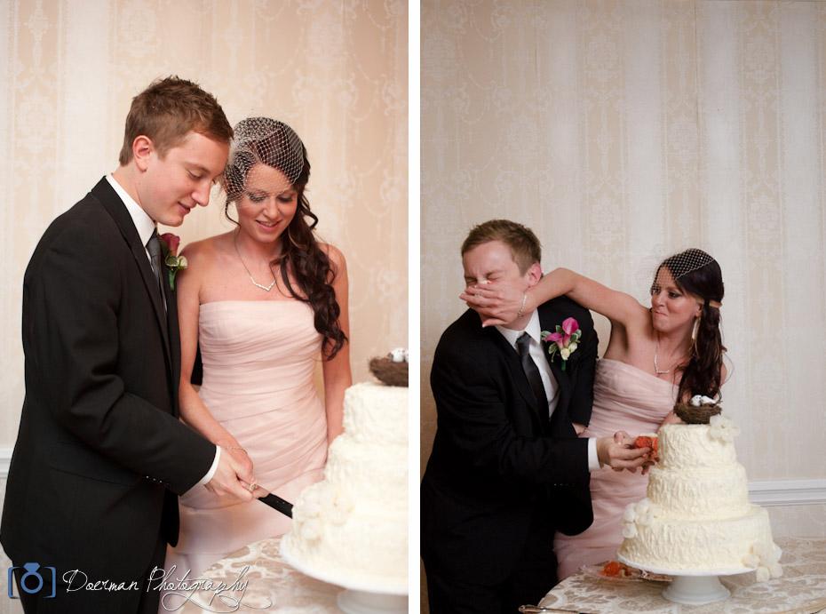 Wedding Cake Cutting Carriage Lane Inn