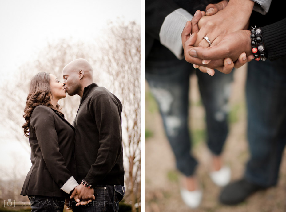 Engagement Session Kiss Ring