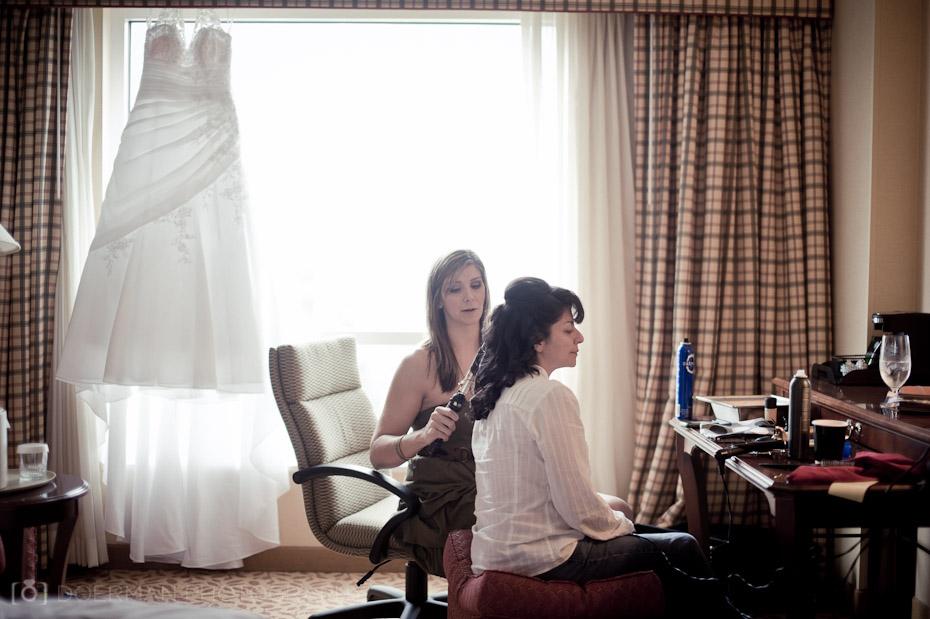 nashville wedding bride getting ready