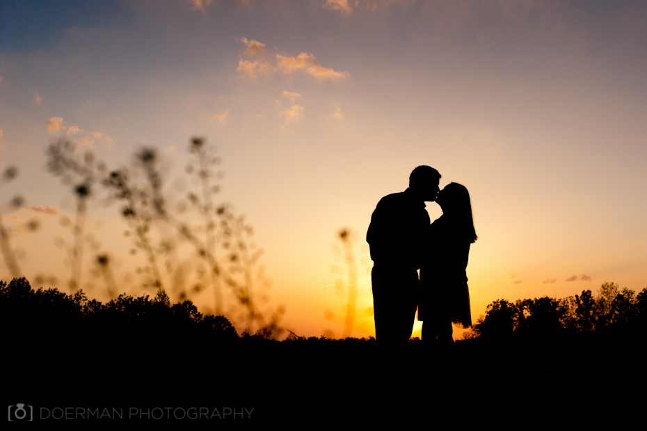 nashville engagement photographers silhouette