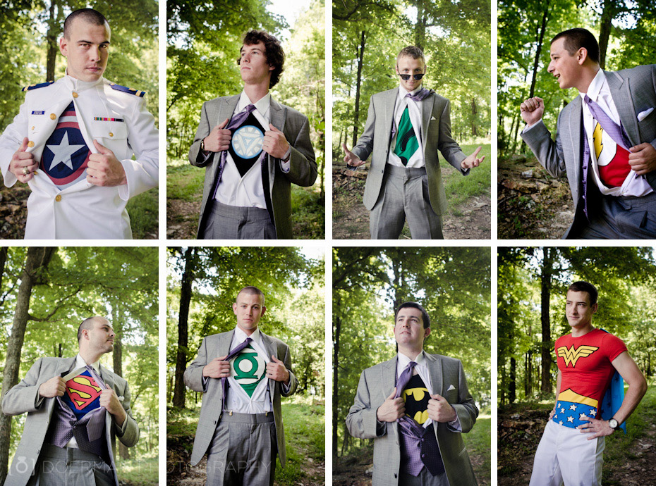 Superhero Wedding Groomsmen