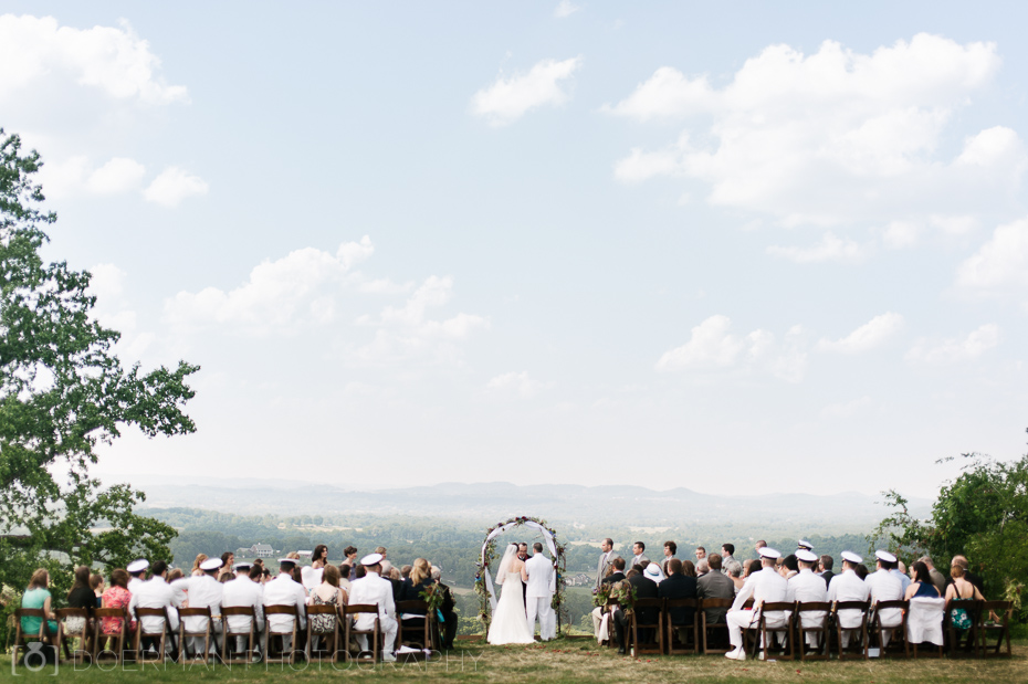 Wedding Ceremony Outdoors in Nashville