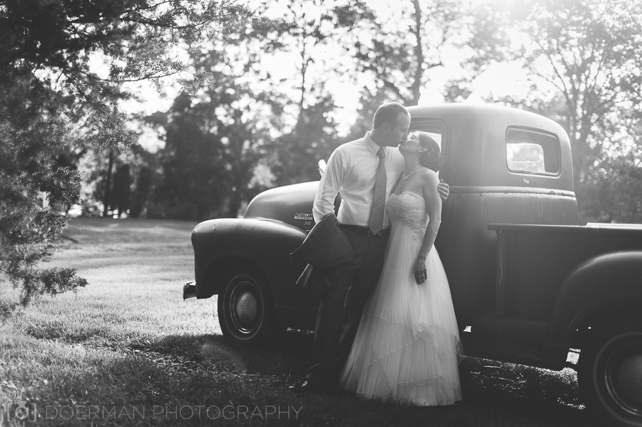 bride groom pickup truck