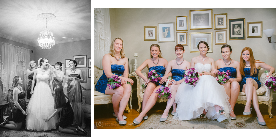 Bridesmaids with Bride at Cedarwood in Nashville