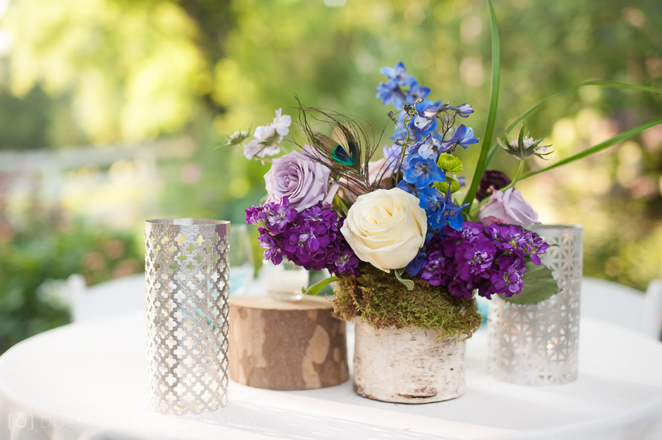 Cedarwood floral centerpiece