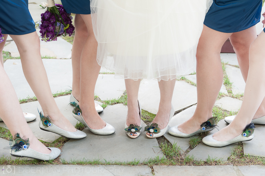 Peacock Wedding Shoes for Bride and Bridesmaids