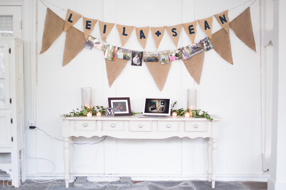 burlap wedding name banner