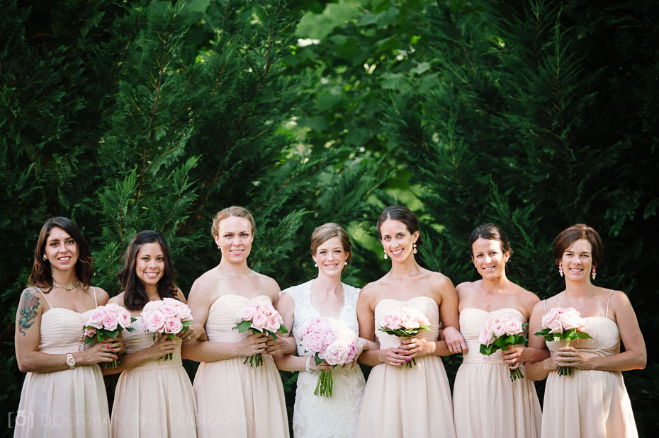 Bridesmaids at a Loveless Barn wedding