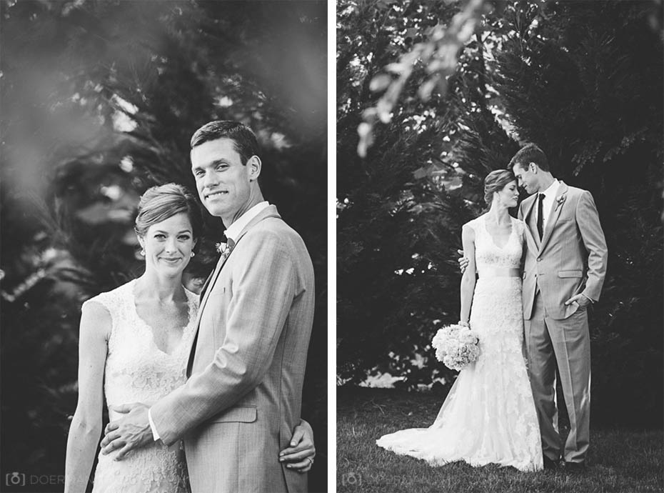 Couple at Loveless Barn wedding