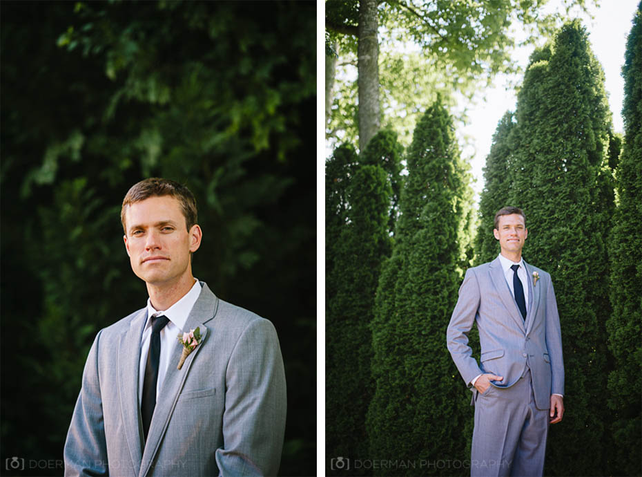 Groom at Loveless Barn wedding