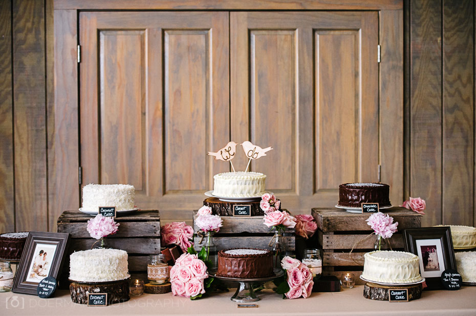 Several wedding cakes