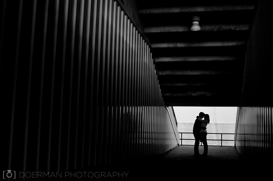 black and white photo stadium couple