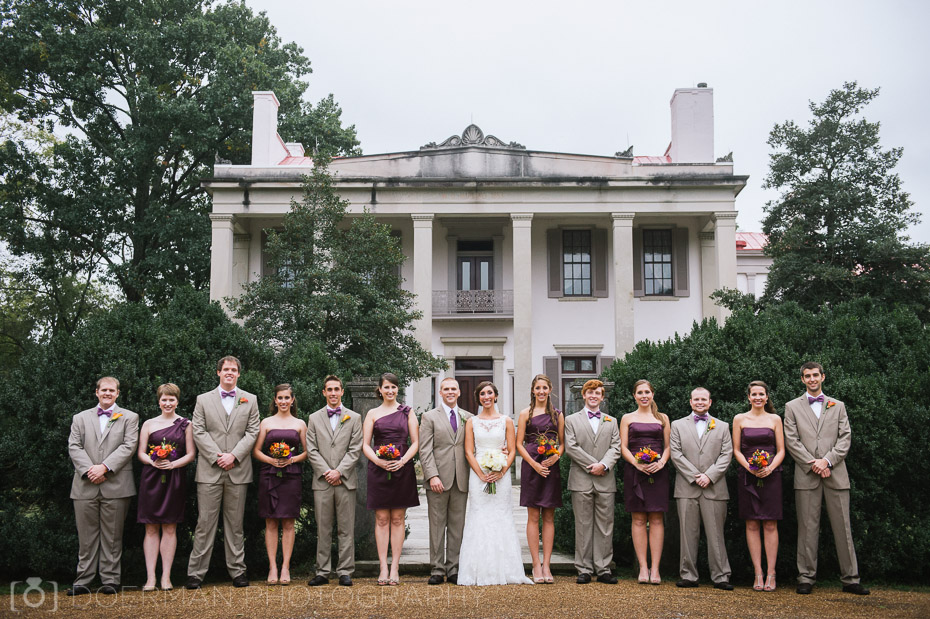 bridal party at Belle Meade Plantation
