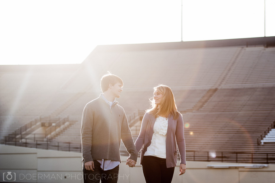 engagement session lens flare