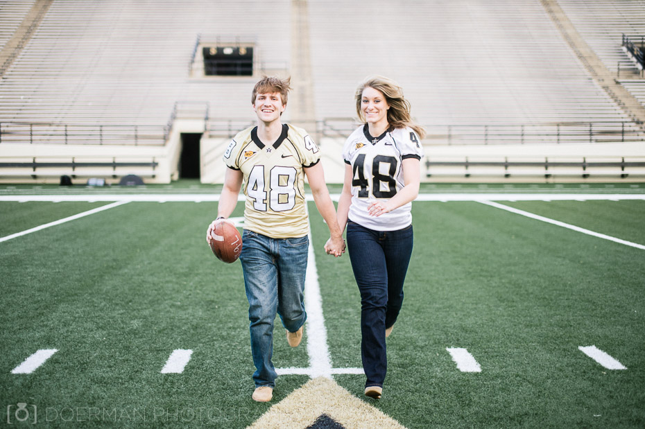 football field engagement session