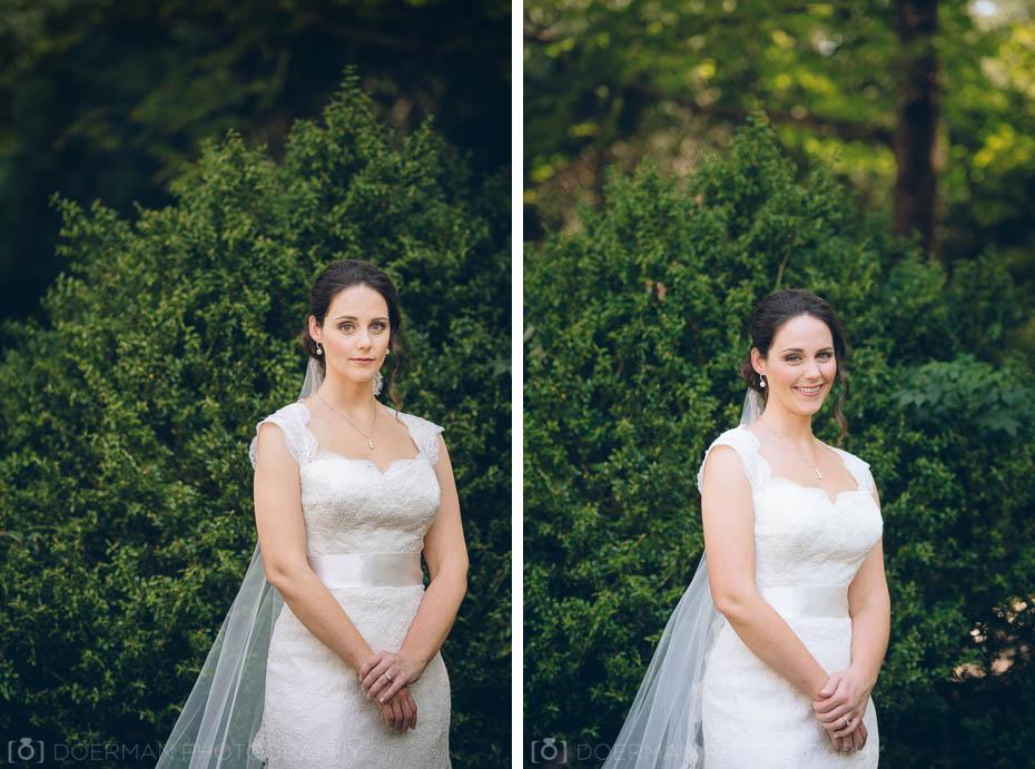 beautiful bride greenery