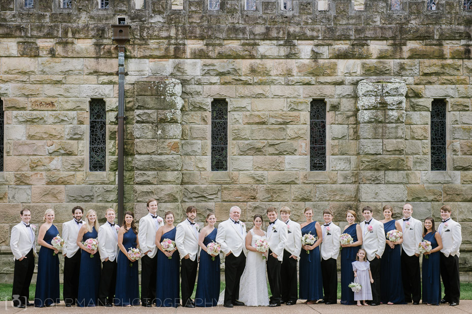 bridal party all saints chapel