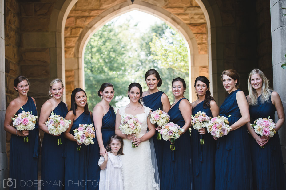 bridesmaids all saints chapel