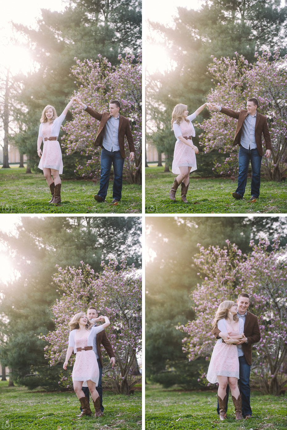 couple dancing engagement
