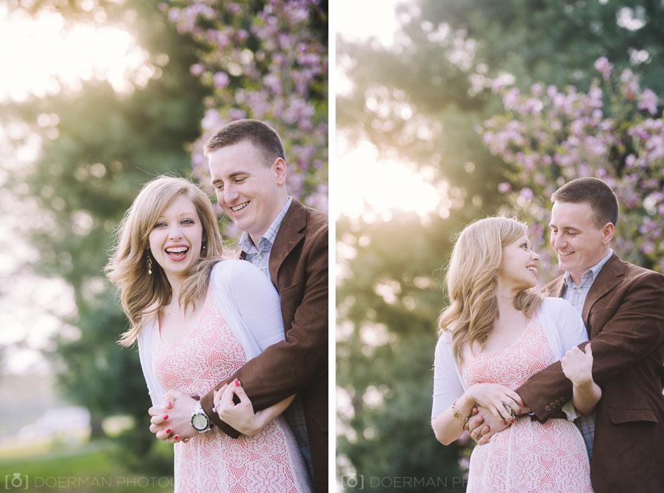 couple embracing engagement