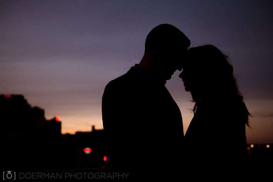 engagement sunset silhouette