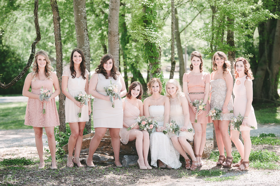 bridesmaids at green door gourmet