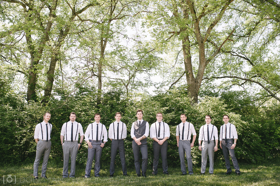groomsmen at green door gourmet