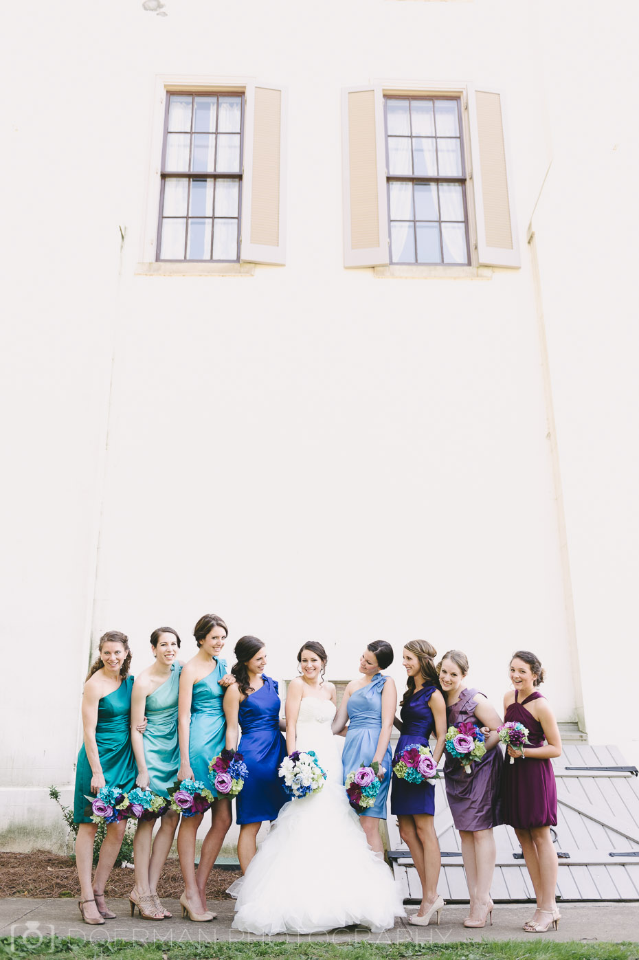 bridesmaids at belle meade plantation