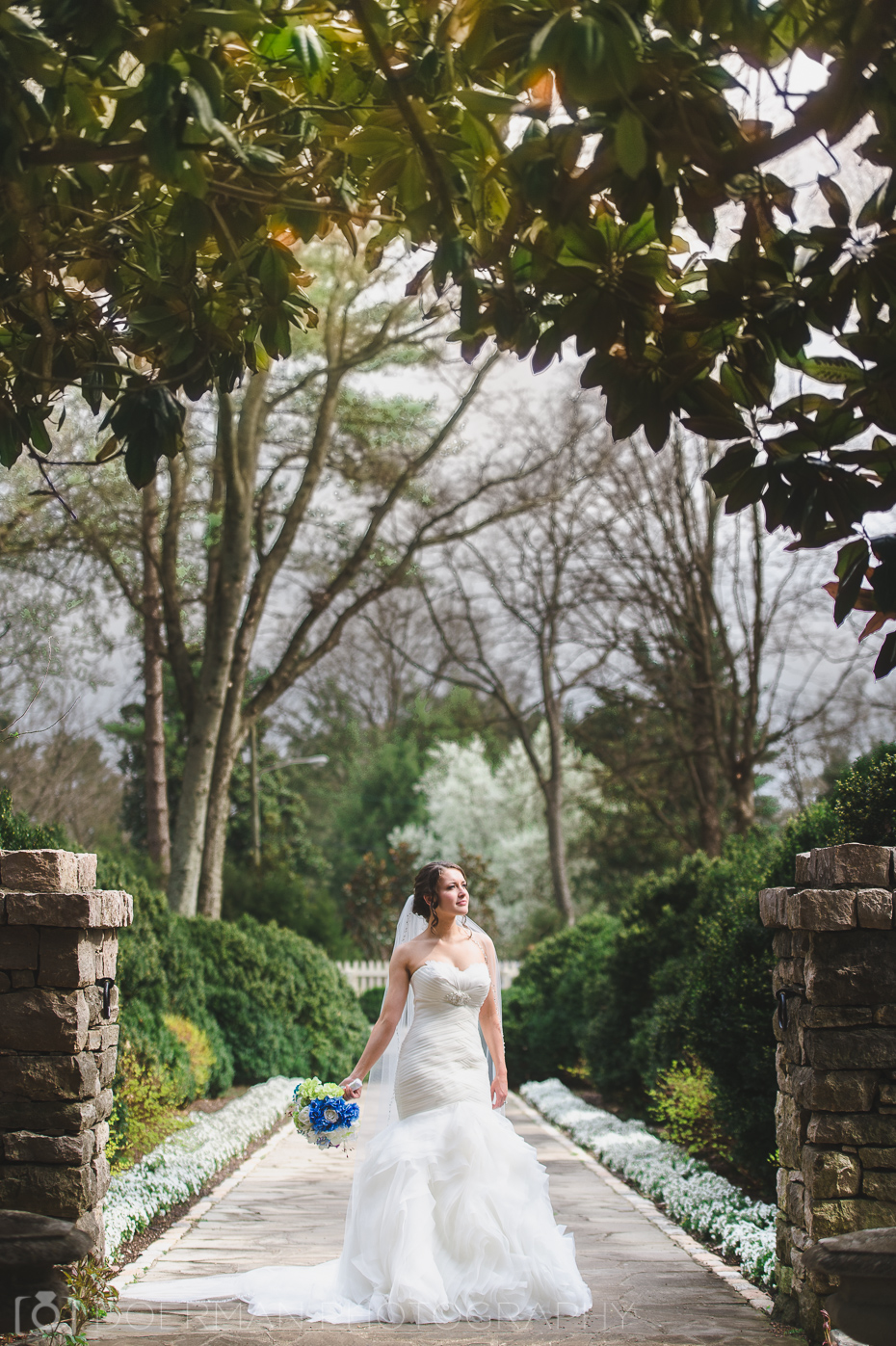 belle meade plantation wedding portrait