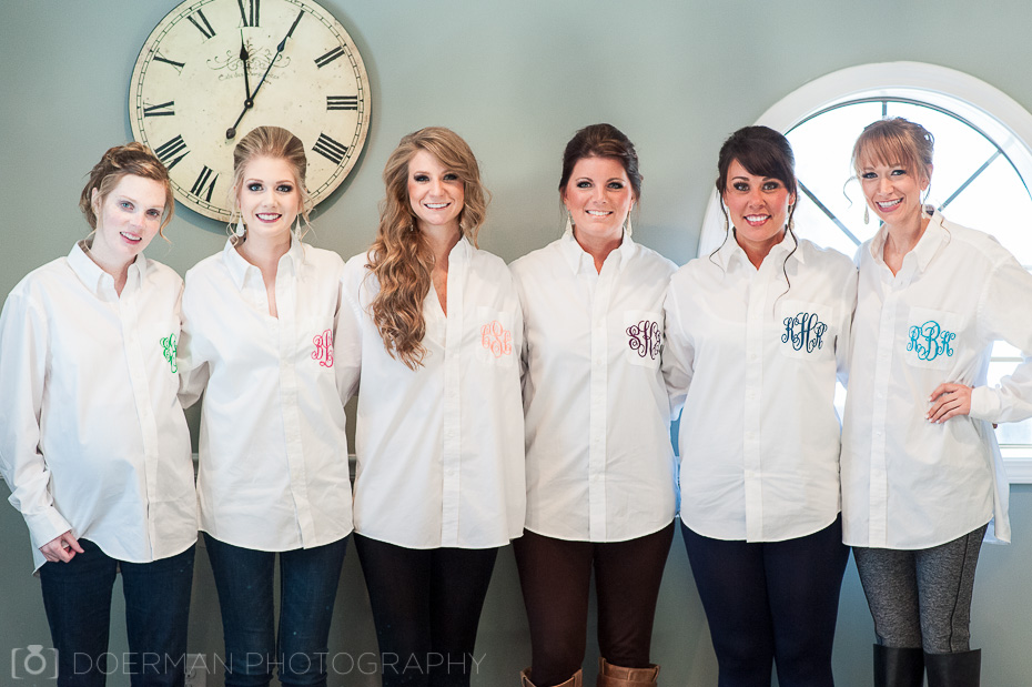 brides maids with matching shirts